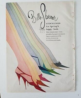 1958 women's Belle-sharmeer colored Hosiery stockings leggy leg look ad