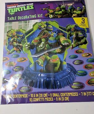 Ninja Turtle Table Decorations (Teenage Mutant Ninja Turtles Table Decorating Kit Party Supplies Tableware)