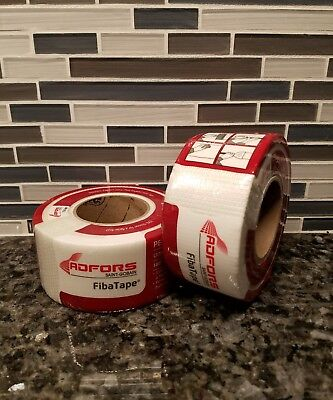 2 Rolls of FibaTape Ultra Thin Drywall Joint Tape White Self Adhesive FDW8725-U