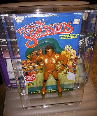 Moc Superfly Jimmy Snuka Wwf Wrestling Superstars Ljn  Figure 5 Back With Stand