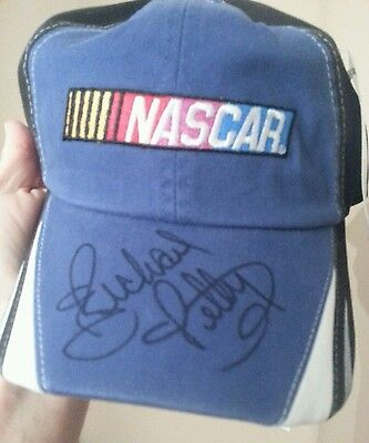 RICHARD PETTY AUTOGRAPHED NASCAR CAP HAT DAYTONA 500 PURCHASED FR PETTY MUSEUM