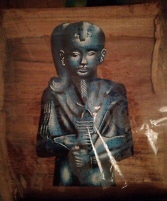 Echte ägyptische Pharo. Papyrus Kunst Selbst gemalte Echt Farbe