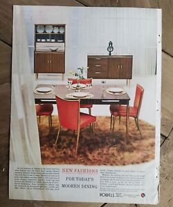 1959 Howell Modern Metal Dining Room Furniture St Charles Illinois Ad