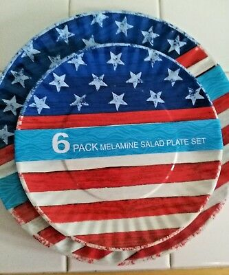 PATRIOTIC - 12 pc Melamine Dinnerware Set - Patriotic Dinnerware