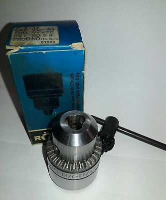 Rohm Drill Chuck R 2-12 Cap 132 - 38 Thd Mnt 12-20 Made In W. Germany