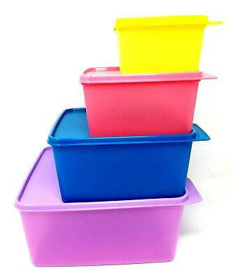 TUPPERWARE KEEP TABS 4 -PC SET Nesting New