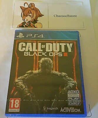 Call Of Duty Black Ops III PS4 New Sealed UK PAL Version...