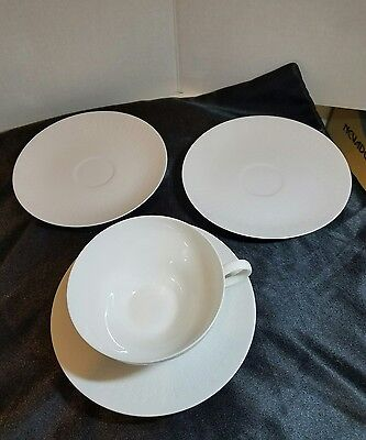 Rosenthal Romance (All White) wide Cup & Saucer Set & 2 saucers
