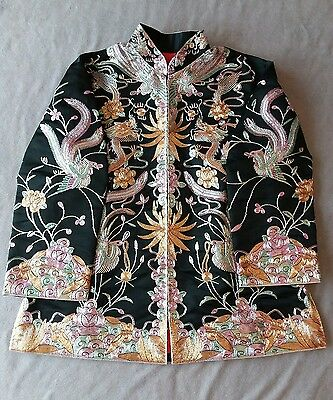BEAUTIFUL!!!  Chinese Wedding Robe Embroidered metallic thread