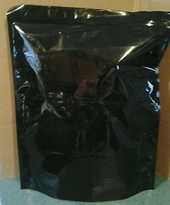 25 Heavy-duty Black Zip Lock Stand Up Pouch Bag 18x 22 Xl Extra Large Jumbo