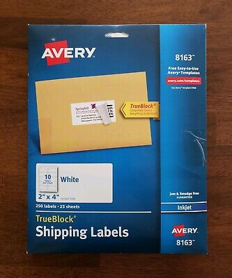 Avery Shipping Address Labels Inkjet Printers 500 2x4 Labels 50 Sheets