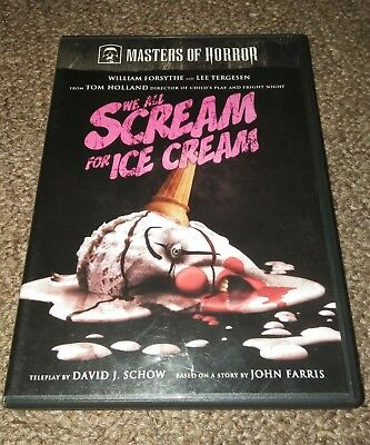 Masters of Horror - We All Scream for Ice Cream DVD *RARE oop HORROR HALLOWEEN (Horror Movies For Halloween)