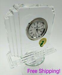 Waterford Cut Crystal Metropolitan Mantle Clock FREE SHIPPING