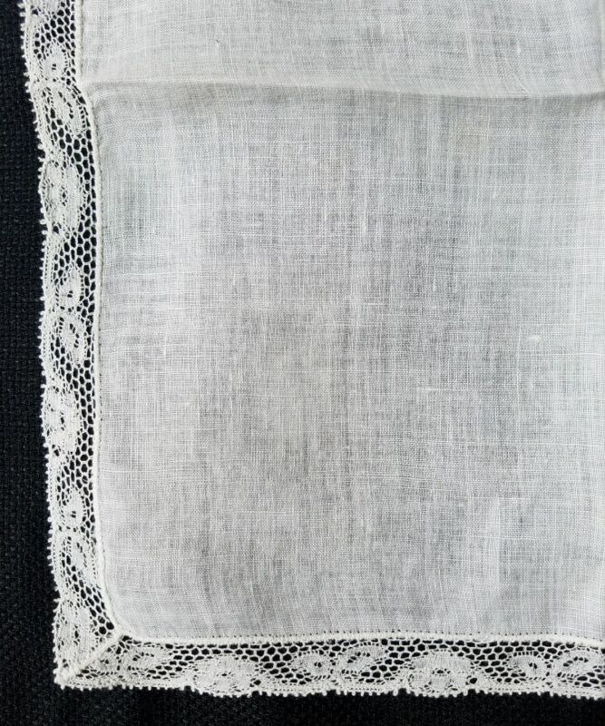 A12 Vintage Lace Hanky Hankies Wedding Bridal Baptismal Christening
