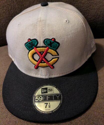 chicago blackhawks fitted hat 59FIFTY New Era alternative logo 7 1/8