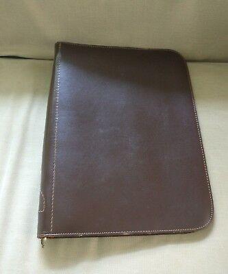 Leather Folder Notebook Zip Up Binder Organizer Planner