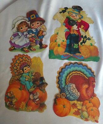 Classroom Thanksgiving Decorations (4 Thanksgiving Diecut Paper Decor Eureka Pilgrims Turkey Scarecrow classroom)