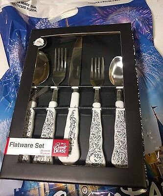 Disney Parks Beauty and the Beast Flatware Silverware Set 20 PC  - NEW