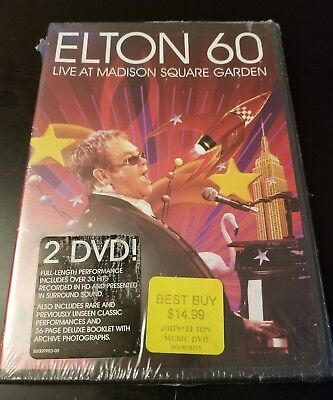 Elton 60: Live At Madison Square Garden (DVD, 2007) Oop Brand New Free S&H