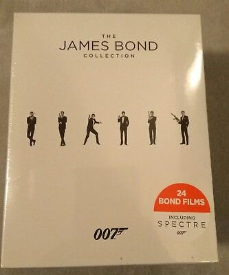 The James Bond Collection - 007  (BLU RAY DISC, BOX SET, 24 FILMS) Sealed