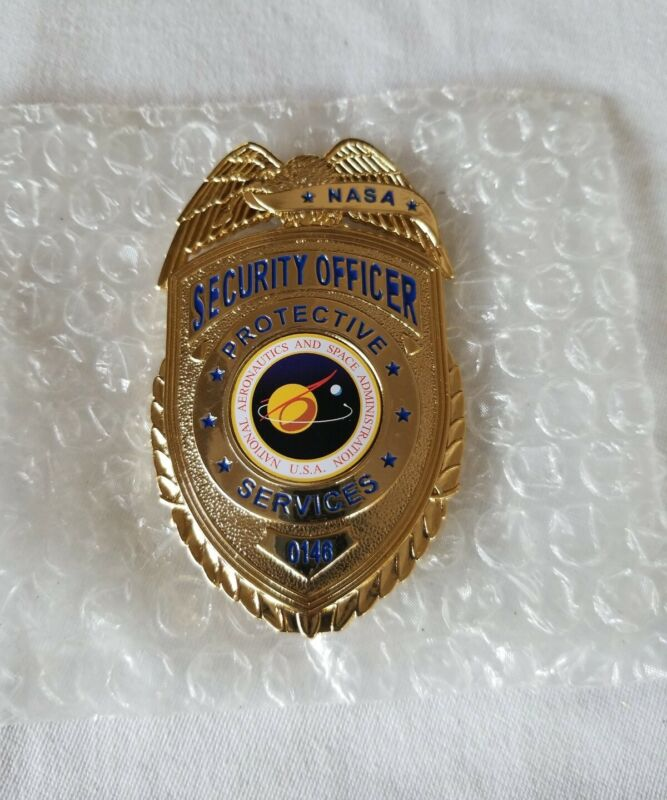 NASA PROTOTYPE Security Officer Metal Badge. For Collecting Only Free Shipping