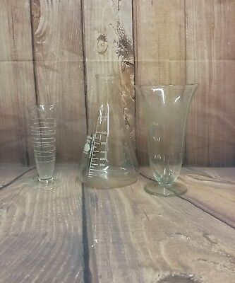 Vintage Kimax Glass Lab Beakers