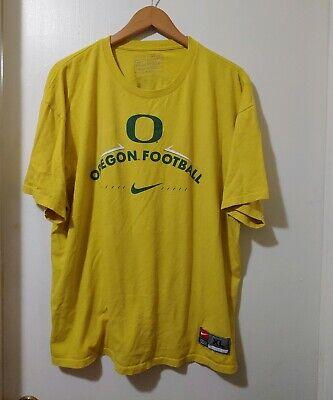 Nike Mens Graphic Tee Size XL Yellow Short Sleeve Cotton Oregon Football Nike Graphic Tee