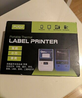 Puqu Label Printer Portable Bluetooth Thermal Label Maker Q20 With Rechargeabl