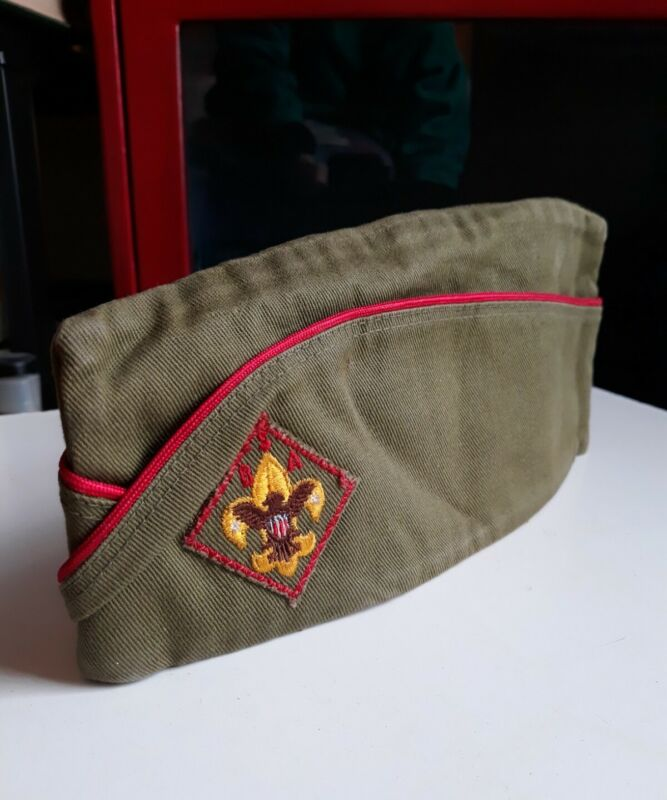 VINTAGE 1960s BOY SCOUTS OF AMERICA BSA SIDE GARRISON SANFORIZED HAT CAP SMALL