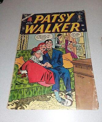Patsy Walker #54 atlas precode comics 1954 Golden Age GGA Al Hartley cover hedy