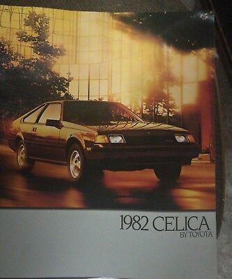 1982 TOYOTA CELICA & CELICA GT DELUXE COLOR SALES CATALOG & BROCHURE - 2 ITEMS