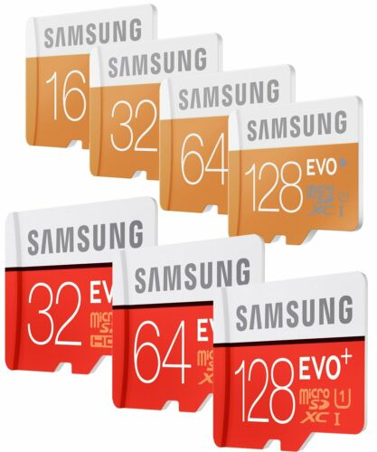8/16/32/64/128 GB Samsung EVO plus Micro SD SDHC/SDXC CLASS 10 Speicherkarte RD