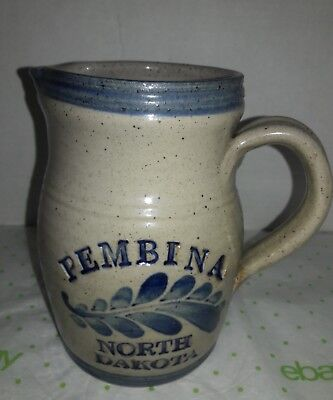 Salt Glazed Pitcher   Pembina North Dakota
