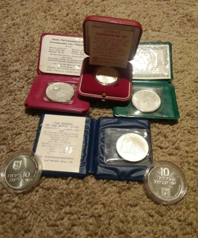 Six (6) SILVER Coins from Israel