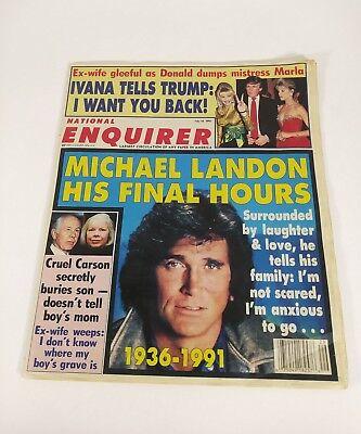 National Enquirer Magazine Donald Trump Michael Landon Johnny Carson July 1991