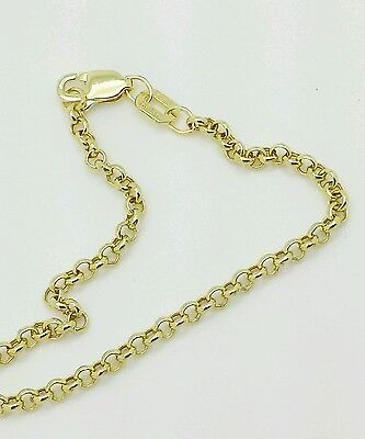 "10k Yellow Gold Rolo Anklet Chain 10"" 2.3mm"