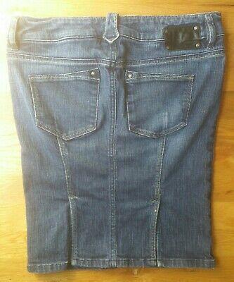 Diesel Industry Stonewashed Denim Skirt Sz 29  Diesel Cotton Skirt