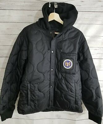 8006be85d74f New Supreme Quilted Liner Hooded Jacket Fall Winter 2017 Black Large