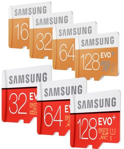 8/16/32/64/128 go samsung evo plus micro sd sdhc/sdxc card class 10