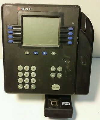 Used Kronos Time Clock System 4500 8602800-502 See Pictures