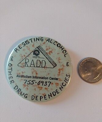 Other Alcohol - RADD Resisting Alcohol & Other Drug Dependencies Pin Button Local Agency