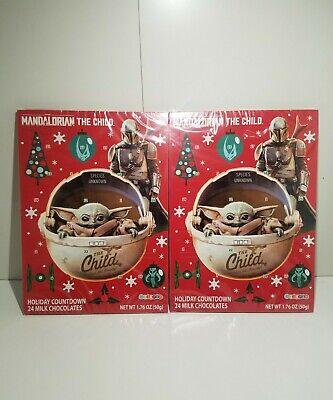 2 Star Wars Mandalorian The Child Baby Yoda Advent Calendar 24 Holiday Chocolate