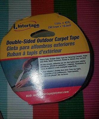 Intertape Outdoor Double-sided Carpet Tape 1.5 42 New
