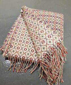 Lovely Welsh Tapestry Style Reversable Wool Blanket - Light Weight