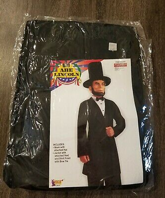 Abe Lincoln Adult Costume (JJJ Adult Forum Abe Lincoln Halloween Costume Size Up To Chest)