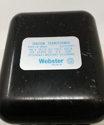 Webster Ignition Transformer Type 12-8a02 Code H861