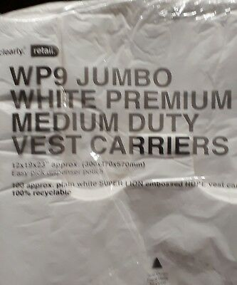 STRONG LARGE JUMBO WHITE Vest Carrier 12 x 19 x 23