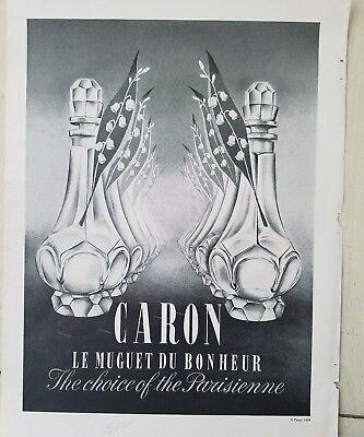 1961 Caron Le Muguet Du Bonheur Perfume Botes Lily Of The Valley...