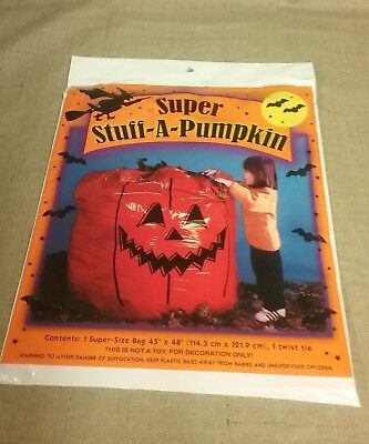 Big Super Stuff a Pumpkin Yard Indoor / Outdoor bag 45inx48in - Big Outdoor Halloween Decorations