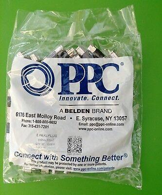 Bag Of 50  Ppc Ex6xlplus Rg6 Universal Compression Connectors